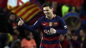 """""""Wir wollten bei einer 2:0-Führung wegen unseres kommenden Programms kein Risiko eingehen"""": Lionel Messi."""