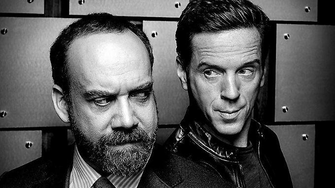 """Schenken sich in """"Billions"""" nichts: Paul Giamatti (l.) als Chuck Rhoades und Damian Lewis als Bobby Axelrod."""