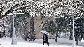 Schnee und Minustemperaturen bleiben.