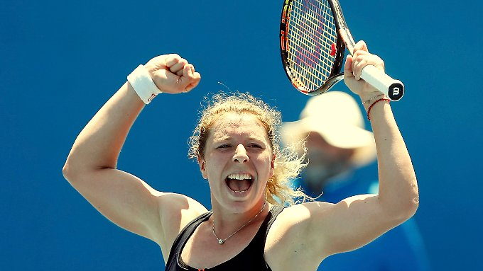 Anna-Lena Friedsam siegt gegen die Qualifikantin Qiang Wang aus China.