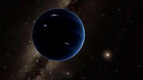 Eine Illustration des möglichen Planeten.