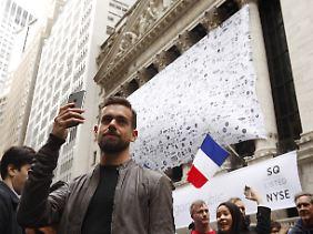 Twitter-Chef Jack Dorsey bei einem Event vor der New Yorker Börse im November.
