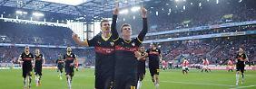 Aufsteiger-Duo stark, Hertha mühsam: Stuttgart siegt, H96 mit Schaaf Letzter