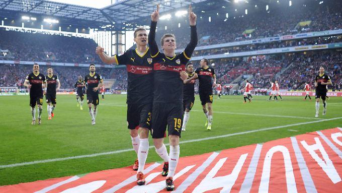 Timo Werner brachte den VfB Stuttgart in Köln mit 2:1 in Führung.