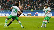 Last-Minute-Ekstase: Frankfurts Triple-Meier schlägt Wolfsburg