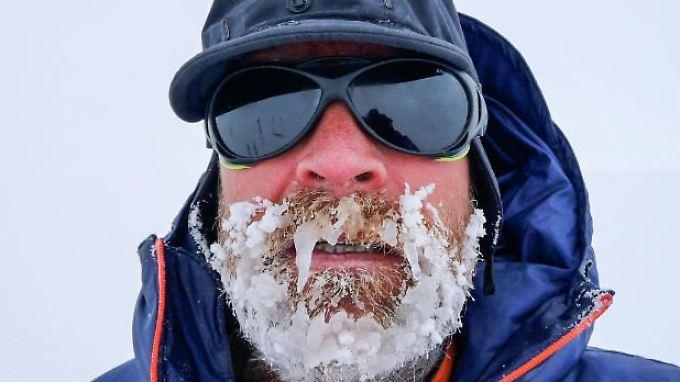 Der 55-jährige Worsley während seines Rekord-Versuchs.
