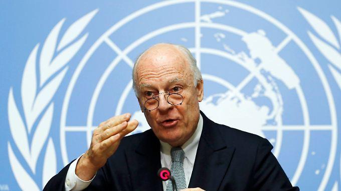 Soll die wichtigsten Konfliktparteien des Syrienkriegs an einen Tisch holen: Staffan de Mistura.