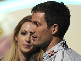 Schön, wenn man Arbeit und Privates nicht trennen muss: Kaiser und ihr Rallyefahrer Sébastien Ogier.