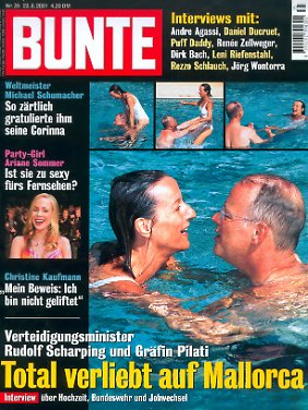 Bilder, die für Aufregung sorgten: Scharping und Pilati im Pool.