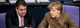 """SPD-Chef verteidigt Flüchtlingskurs: Gabriel: """"Es gibt keine Regierungskrise"""""""
