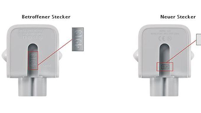 Es ist leicht zu erkennen, ob ein Stecker-Adapter ausgetauscht werden muss oder nicht.