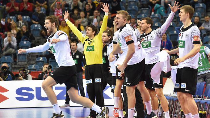 Deutschland gewann das Halbfinale gegen Norwegen nach Verlängerung mit 34:33.