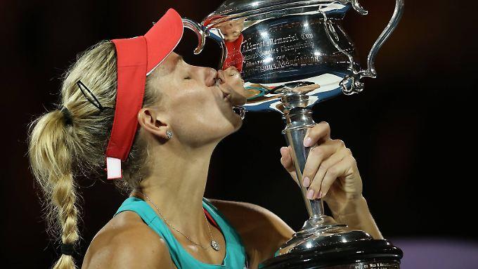 Da ist das Ding! Angelique Kerber holt sich ihren ersten Grand-Slam-Titel.