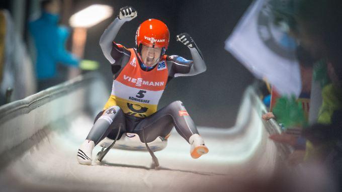 Natalie Geisenberger war die Schnellste am Königssee.