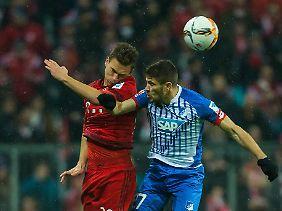 Bayerns Mittelfeldtalent Joshua Kimmich musste kurzerhand in der Münchner Abwehrkette ran - und meisterte das tadellos.