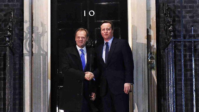 Tusk und Cameron einigten sich offenbar darauf, dass Großbritannien die Notbremse ziehen darf.