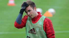 Trainiert wieder mit der Mannschaft: Mario Götze.
