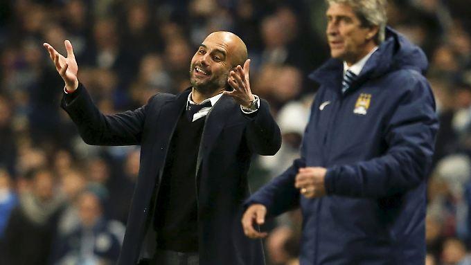 Josep Guardiola übernimmt im Sommer den Posten von Manuel Pellegrini als Chefcoach von Manchester City.
