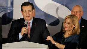 Caucus in Iowa: Ted Cruz sticht Donald Trump wider Erwarten aus