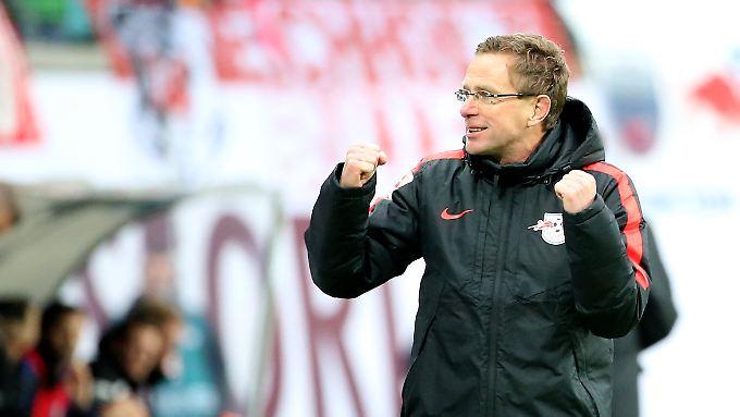 Coach Ralf Rangnick ist bereit für den Angriff.