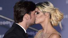 Küsse bei der Premiere: Micaela Schäfer in love