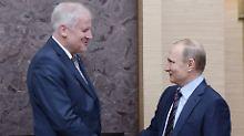 Schulterschluss mit Putin: Seehofer fordert Lockerung der Sanktionen
