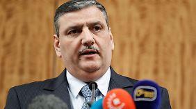 Riad Hidschab vom Hohen Verhandlungskomitee vertritt die syrische Opposition bei den Verhandlungen.