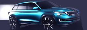 Studie des siebensitzigen Skoda-SUV.