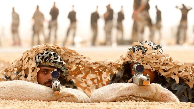 Saudische Spezialeinheiten trainieren den Ernstfall.