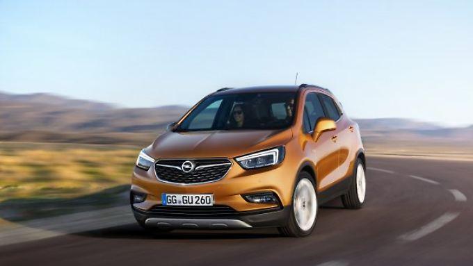Unter dem neuen Modellnamen Mokka X bietet Opel ab Sommer das geliftete Mini-SUV Mokka an.