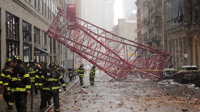 Zur Unfallzeit waren in Manhatten Tausende Menschen auf dem Weg zur Arbeit.