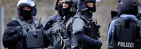 Ein Spezialeinsatzkommando (SEK) der Polizei
