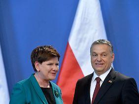 Szydlo und Orban.