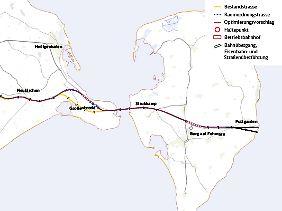 Der Stand der Vorplanungen auf deutscher Seite: Von Puttgarden sollen die Züge weiter nach Lübeck rollen.