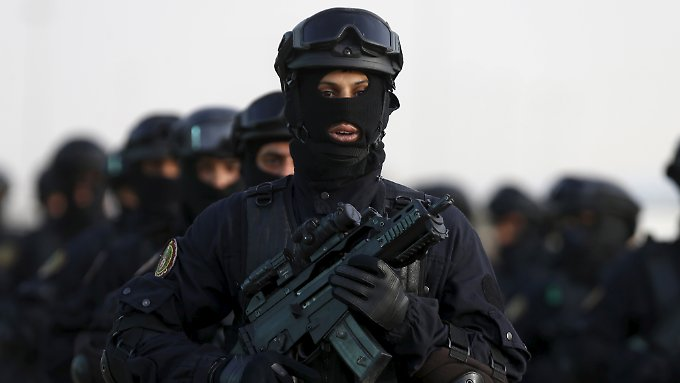 Soldaten einer saudi-arabischen Spezialeinheit.
