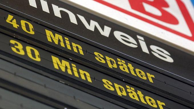 Im vergangenen Jahr waren 25,6 Prozent aller Fernzüge unpünktlich.