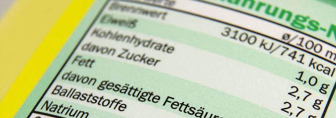 Die Nährwertangaben pro 100 Gramm sind gesetzlich vorgeschrieben.