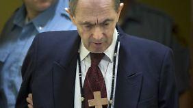 Zdravko Tolimir vor dem UN-Kriegsverbrechertribunal für das frühere Jugoslawien
