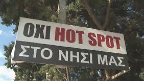 Ärger im Urlaubsparadies: Griechen protestieren gegen Flüchtlings-Hotspot