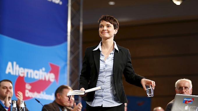 AfD-Chefin Frauke Petry, hier bei einer Parteiveranstaltung im vergangenen November.
