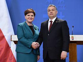 Für den ungarischen Regierungschef Viktor Orban hatte Beata Szydlo bereits Zeit.