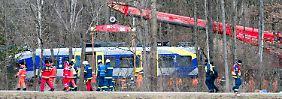 Weiteres Todesopfer nach Zugunglück: Verletzter Mann stirbt im Krankenhaus