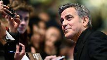 Beim Start der Berlinale: Clooney lobt Merkel für Flüchtlingspolitik