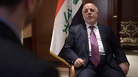 Haidar al-Abadi will die Kontrolle über das irakische Staatsgebiet zurück.