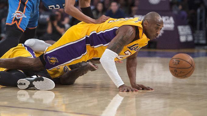 """Kobe Bryant: """"Ich fühle mich fürchterlich. Meine Knöchel tun weh, meine Knie tun weh."""""""