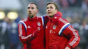 Wann Franck Ribéry und Mario Götze ihre Comebacks beim FC Bayern geben können, ist nach wie vor offen.