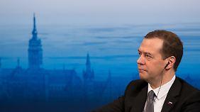 Russlands Ministerpräsiden Dmitri Medwedew
