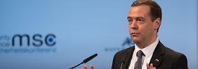 """Sicherheitskonferenz in München: Russland warnt vor """"drittem Weltschock"""""""