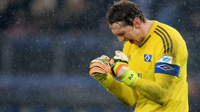 Rene Adler und der Hamburger SV erkämpften sich drei ganz wichtige Punkte gegen Gladbach.