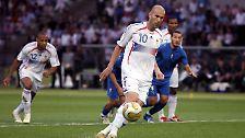 Zinedine Zidane, 9. Juli 2006, Italien gegen Frankreich, WM-Finale, 6:4 nach Elfmeterschießen.